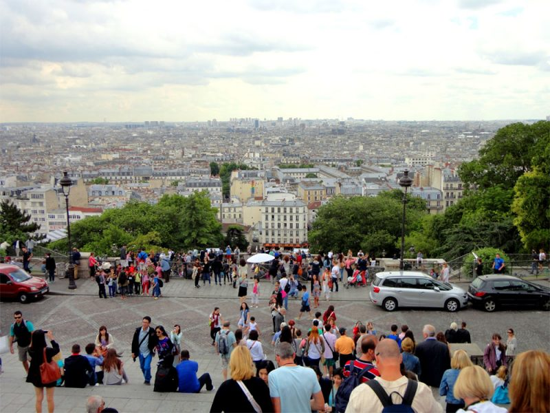 Blick vom Montmartre auf Paris_©RosiKmitta