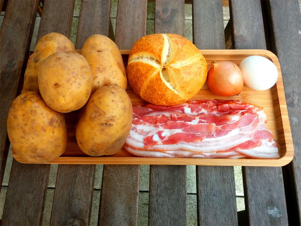 Zutaten für das Rezept Kartoffelkuchen©RosiKmitta