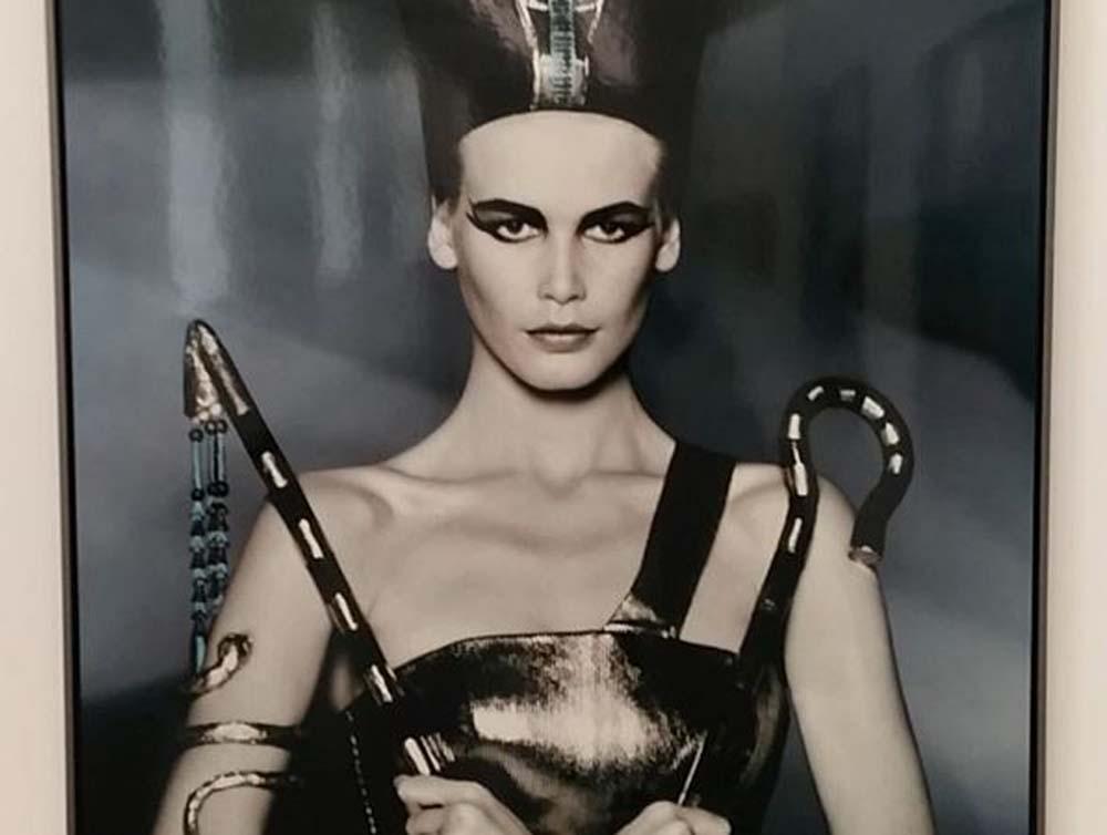 Clauda Schiffer als Cleopatra@KunsthalleSchweinfurt
