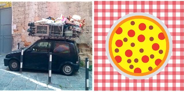 Ist das Kunst oder kann das weg? Verkehrstechnische und gastronomische Erlebnisse in Neapel (©RosiKmitta)